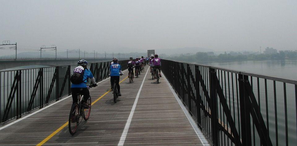 ciclisti sud corea