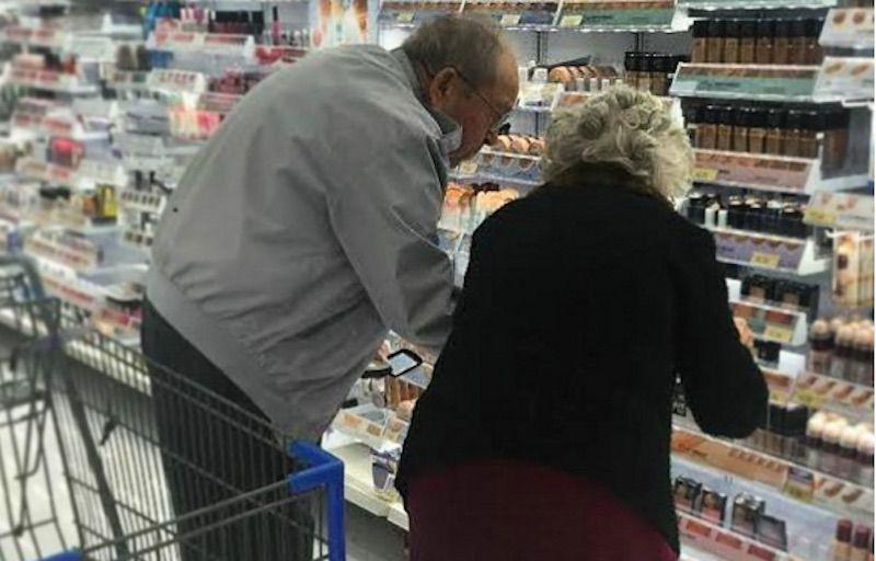 coppia anziani make up