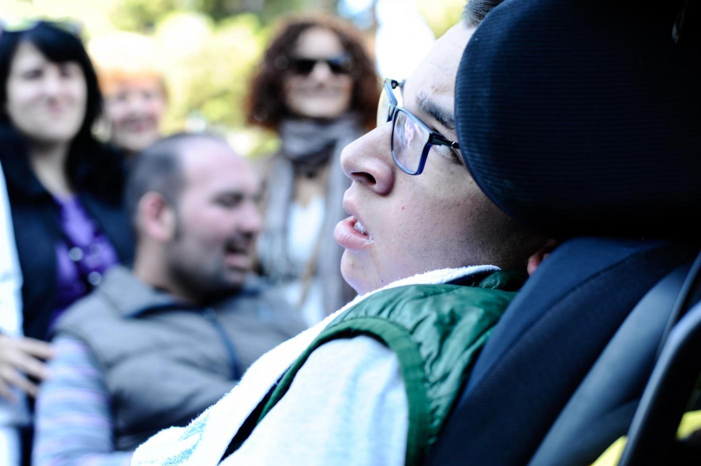 Manifestazione contro tagli servizi ai disabili