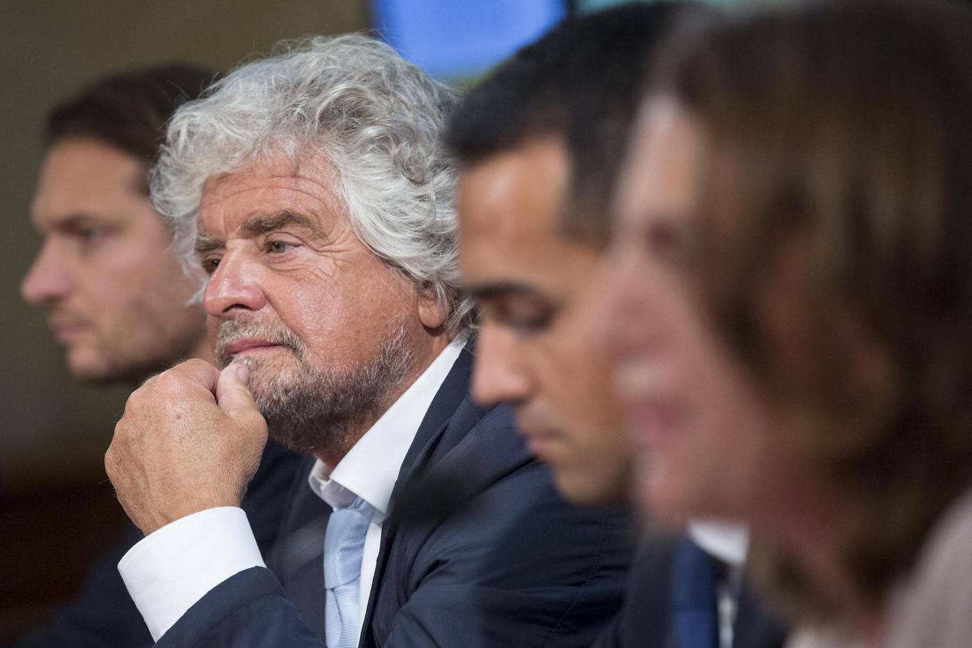 M5S Conferenza stampa di Beppe Grillo