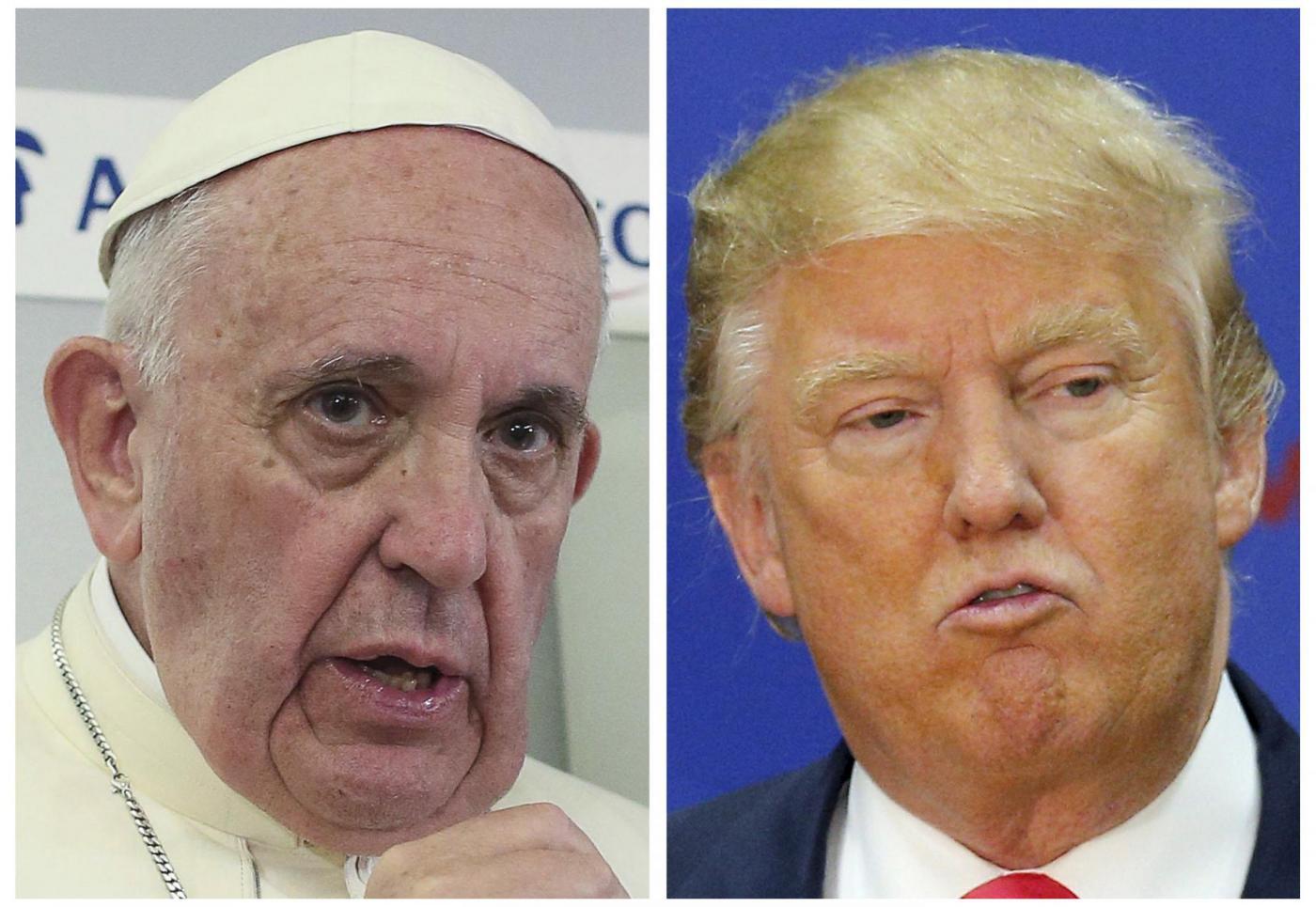 Papa Francesco Donald Trump, è scontro su migranti