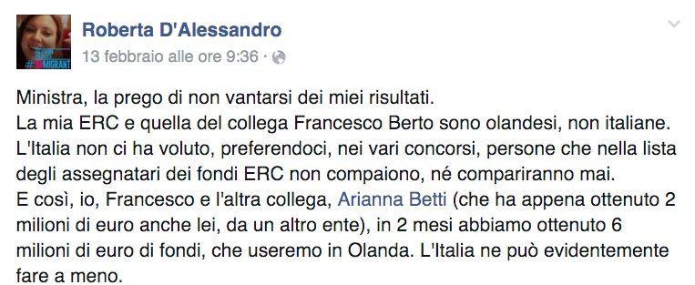 Ricercatrice italiana all'estero zittisce la ministra Giannini: 'Non si prenda meriti che non ha'