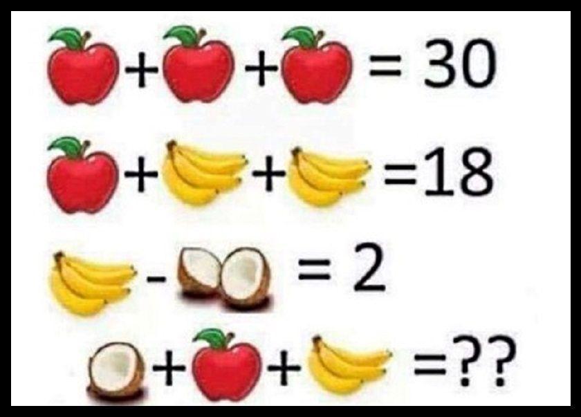 rompicapo con la frutta