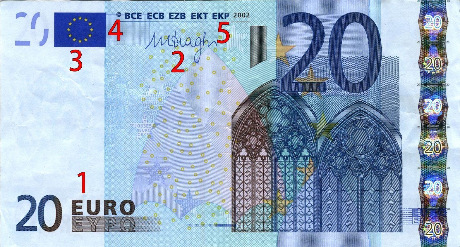 20 euro falsi già in circolazione: ecco come riconoscerli