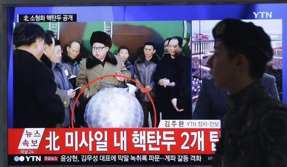 Kim Jong Un con bomba atomica