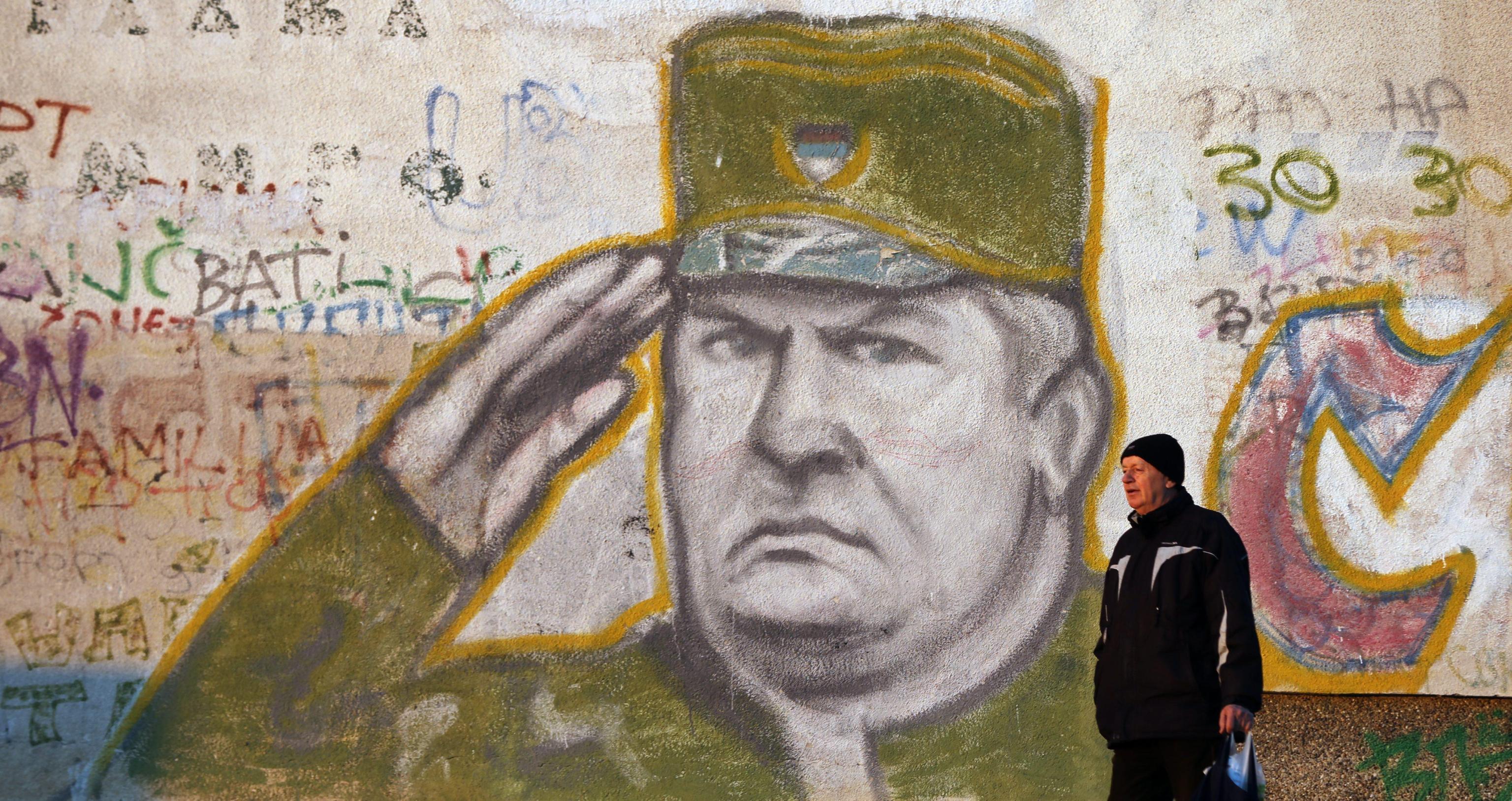 Ratko Mladic murales a Belgrado
