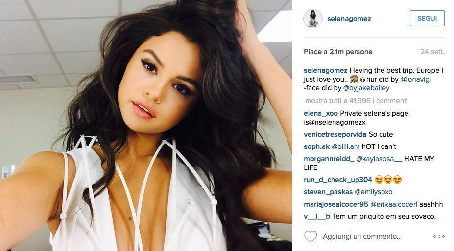 Selena Gomez è la più seguita su Instagram, superata Taylor Swift