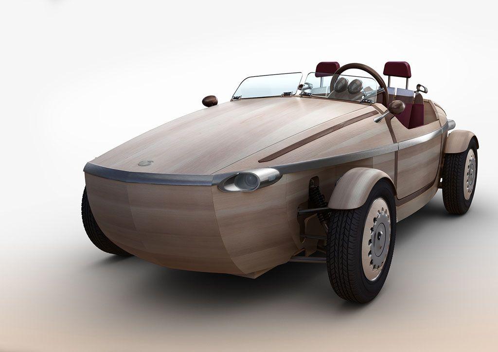 Salone del mobile 2016: arriva l'auto di legno