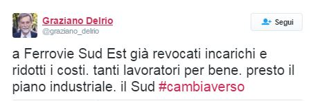 Tweet di Delrio