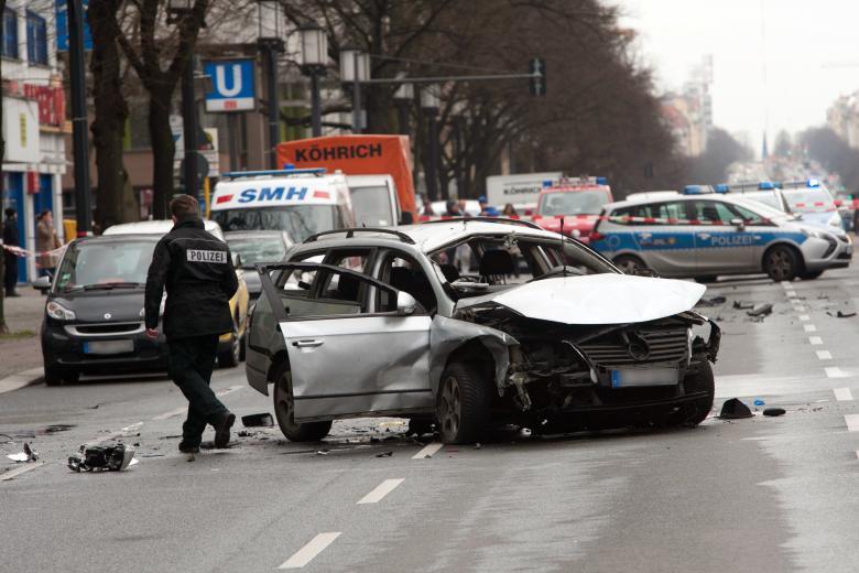 L'auto esplosa a Berlino