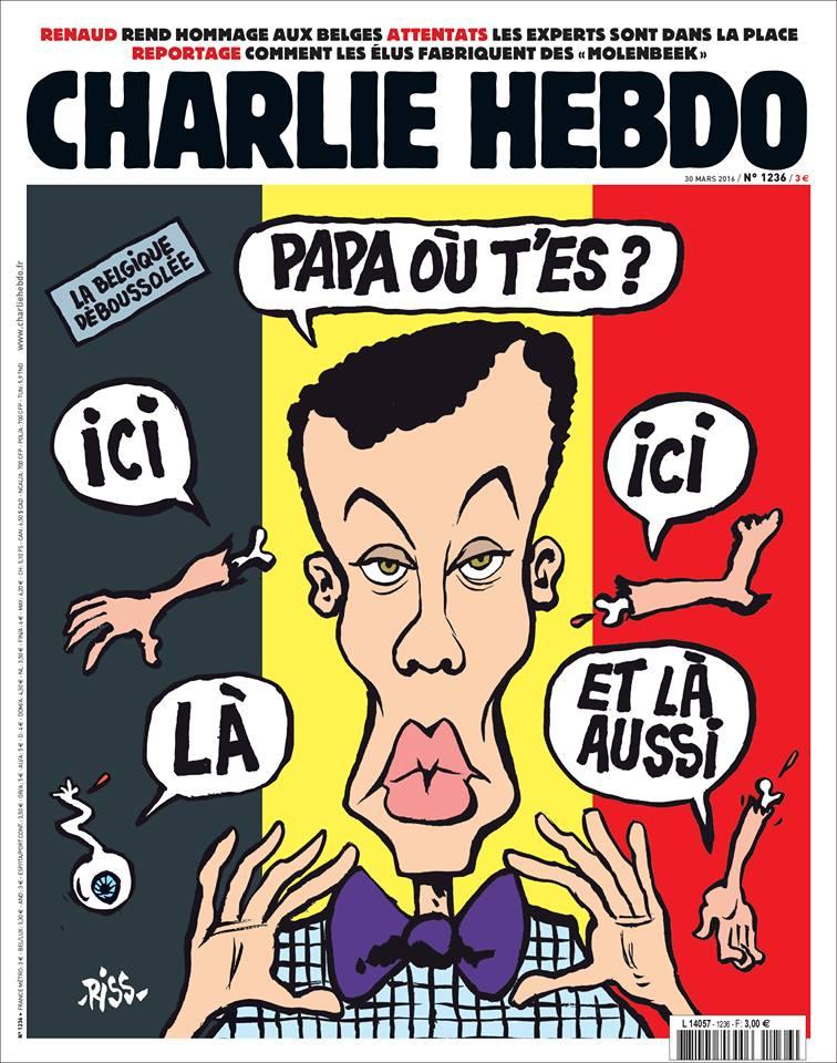 Charlie Hebdo, è polemica per la copertina dedicata a Bruxelles