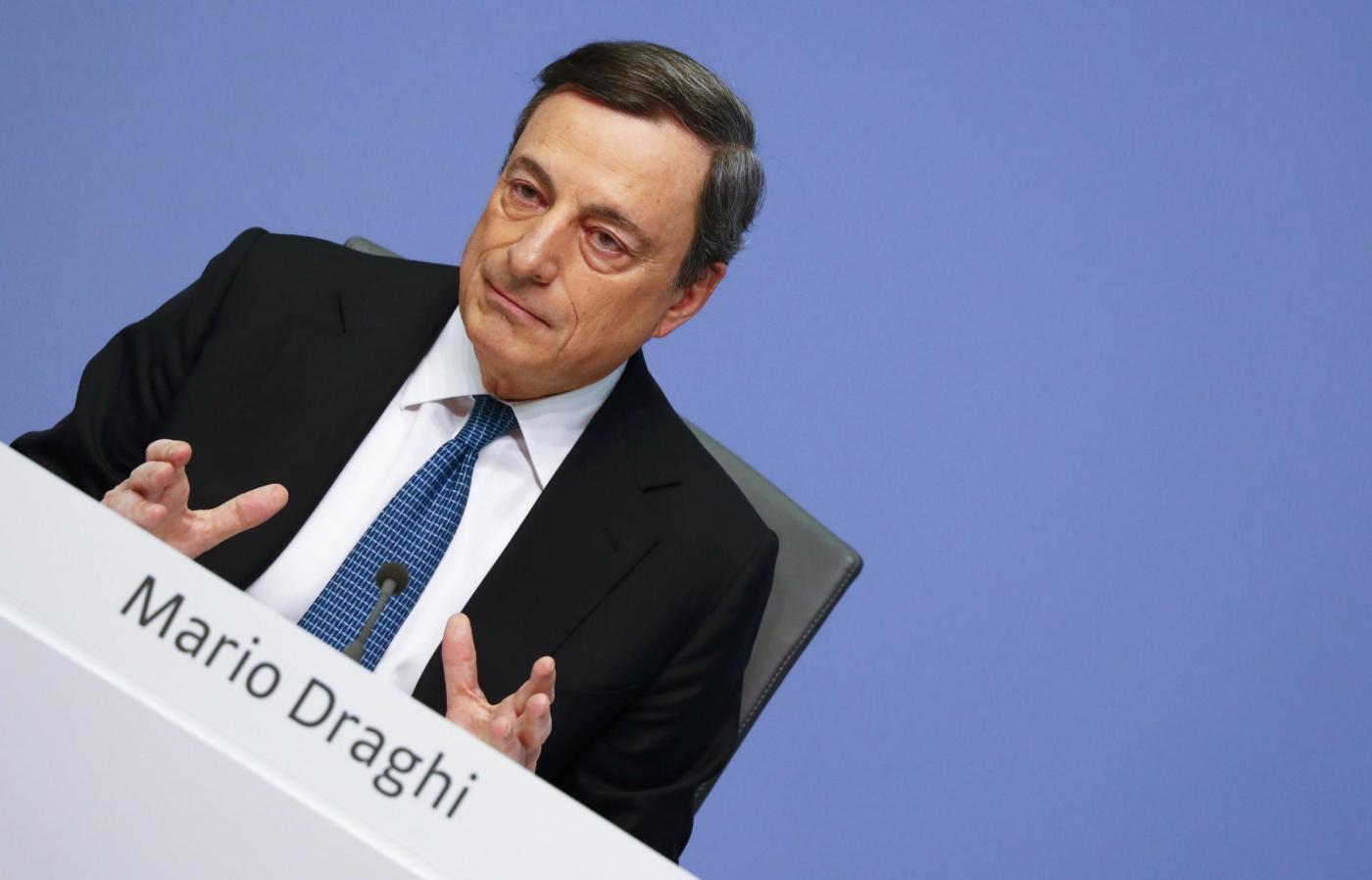 Bce, conferenza di Mario Draghi a Francoforte
