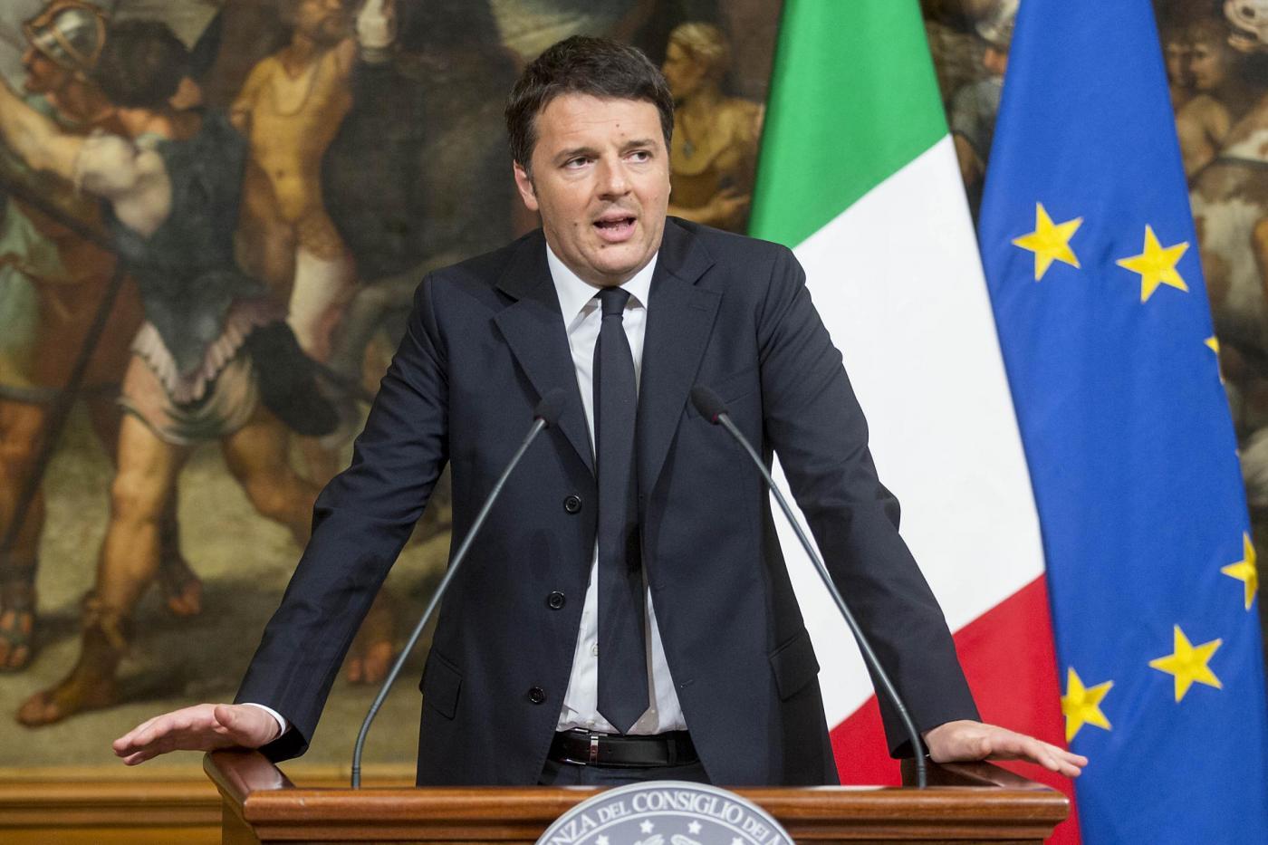 Palazzo Chigi Dichiarazioni di Matteo Renzi su attentati a Bruxelles
