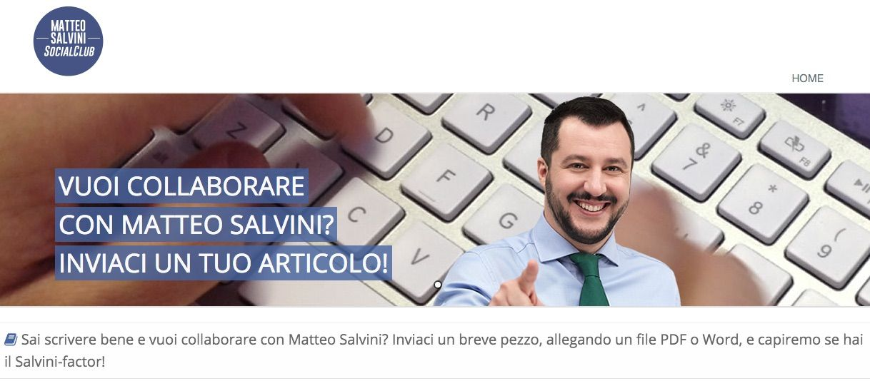 Matteo Salvini lancia un talent per collaboratori con il 'Salvini Factor'