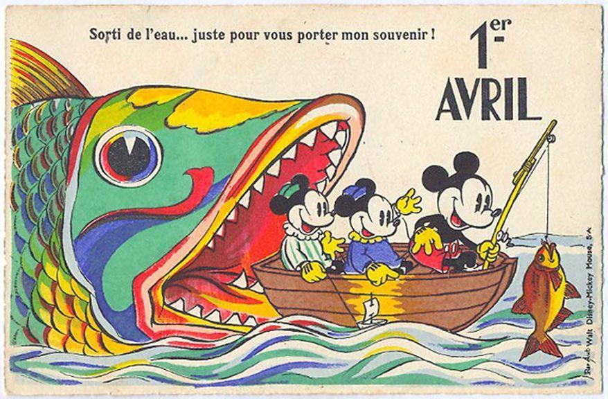 pesce aprile cartolina dalla Francia