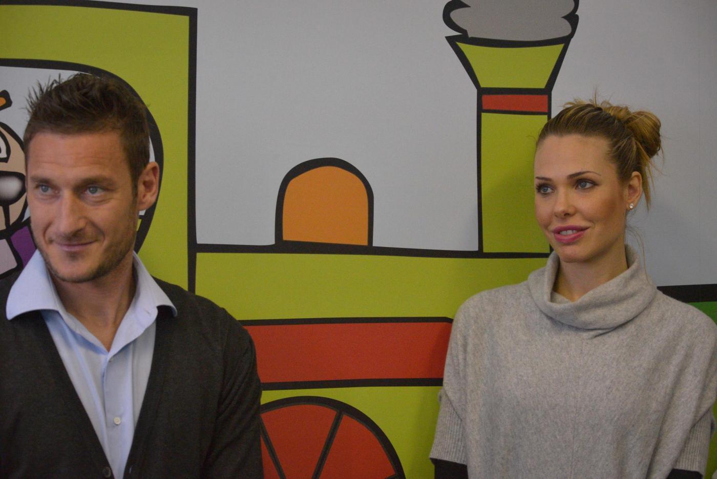 Francesco Totti e Ilary Blasi genitori