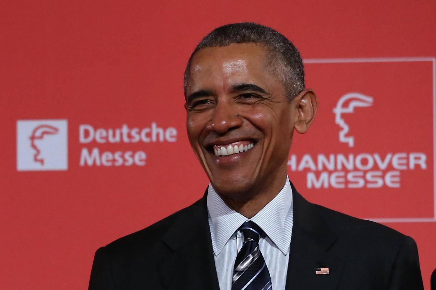 Barack Obama e Angela Merkel alla Fiera di Hannover