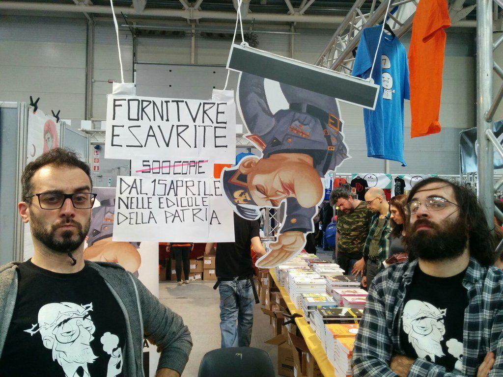 Romics, blitz di Casapound contro il fumetto antifascista 'Qvando c'era Lvi'
