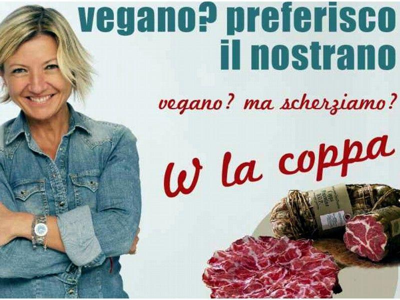 Elisabetta Rapetti testimonial campagna anti vegan