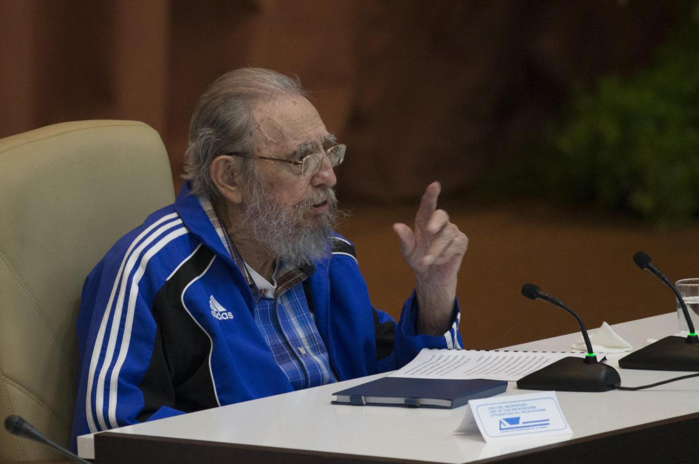 Fidel Castro durante la chiusura del Congresso