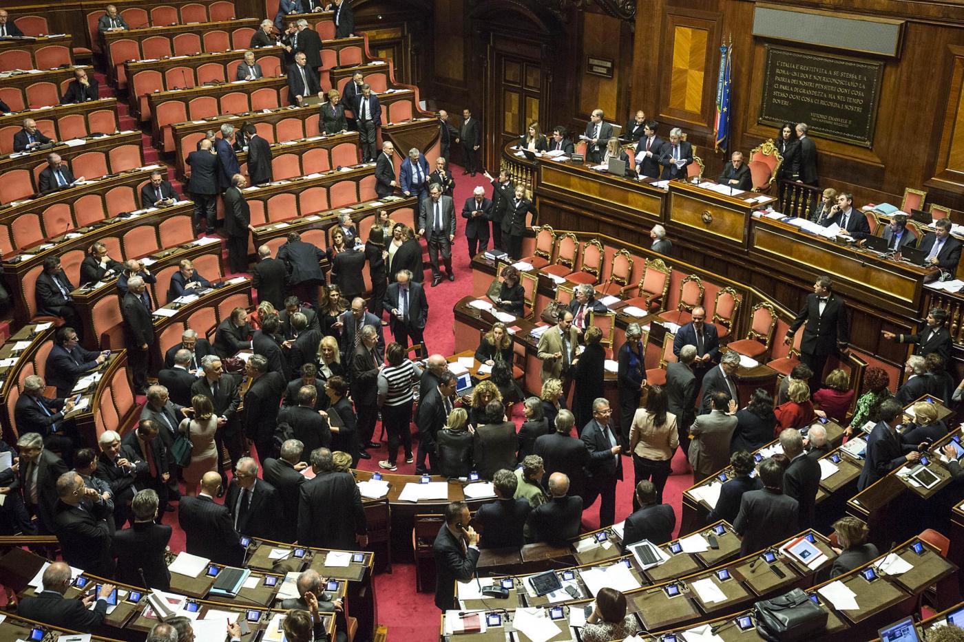 Senato Voto di fiducia su dl Banche