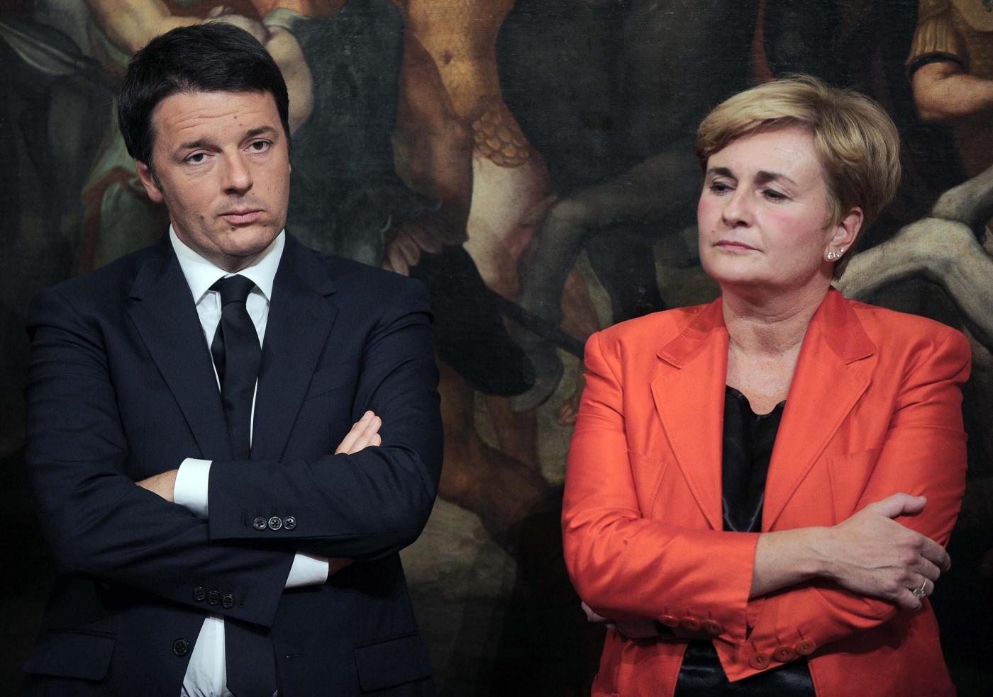 Federica Guidi e Matteo Renzi