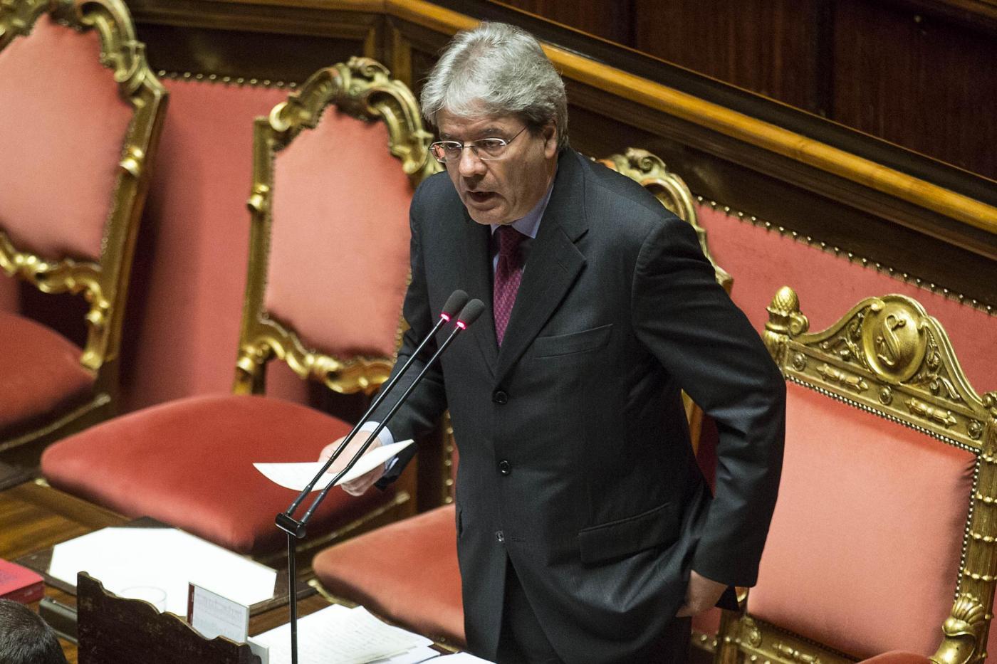 Senato Informativa del ministro degli Esteri Gentiloni sul caso Regeni