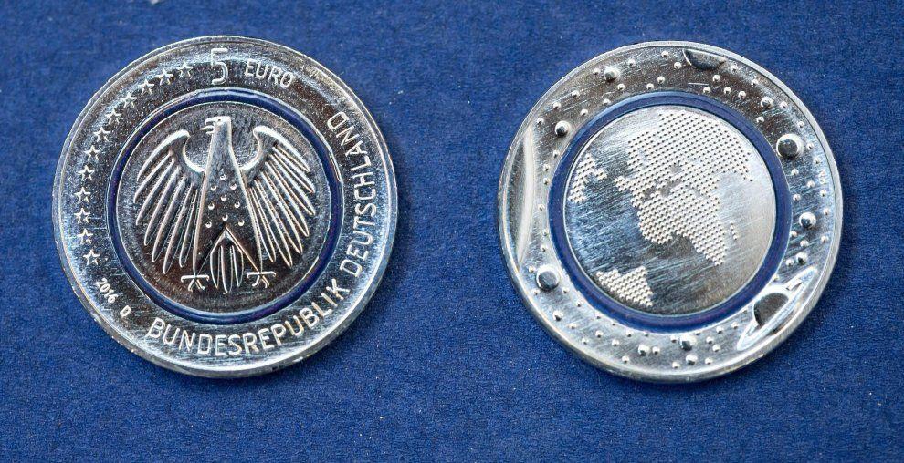 La moneta da 5 euro arriva dalla Germania