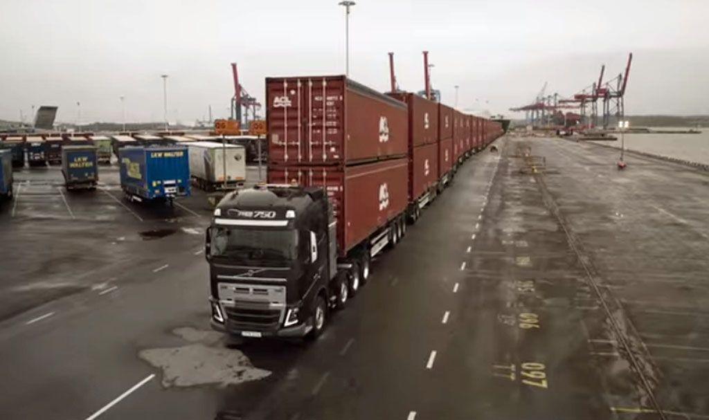 Autotreno Volvo traina 750 tonnellate