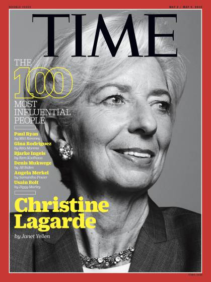 christine lagarde time 100 cover
