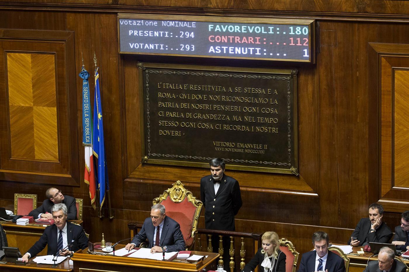 Senato Voto finale su ddl Riforme