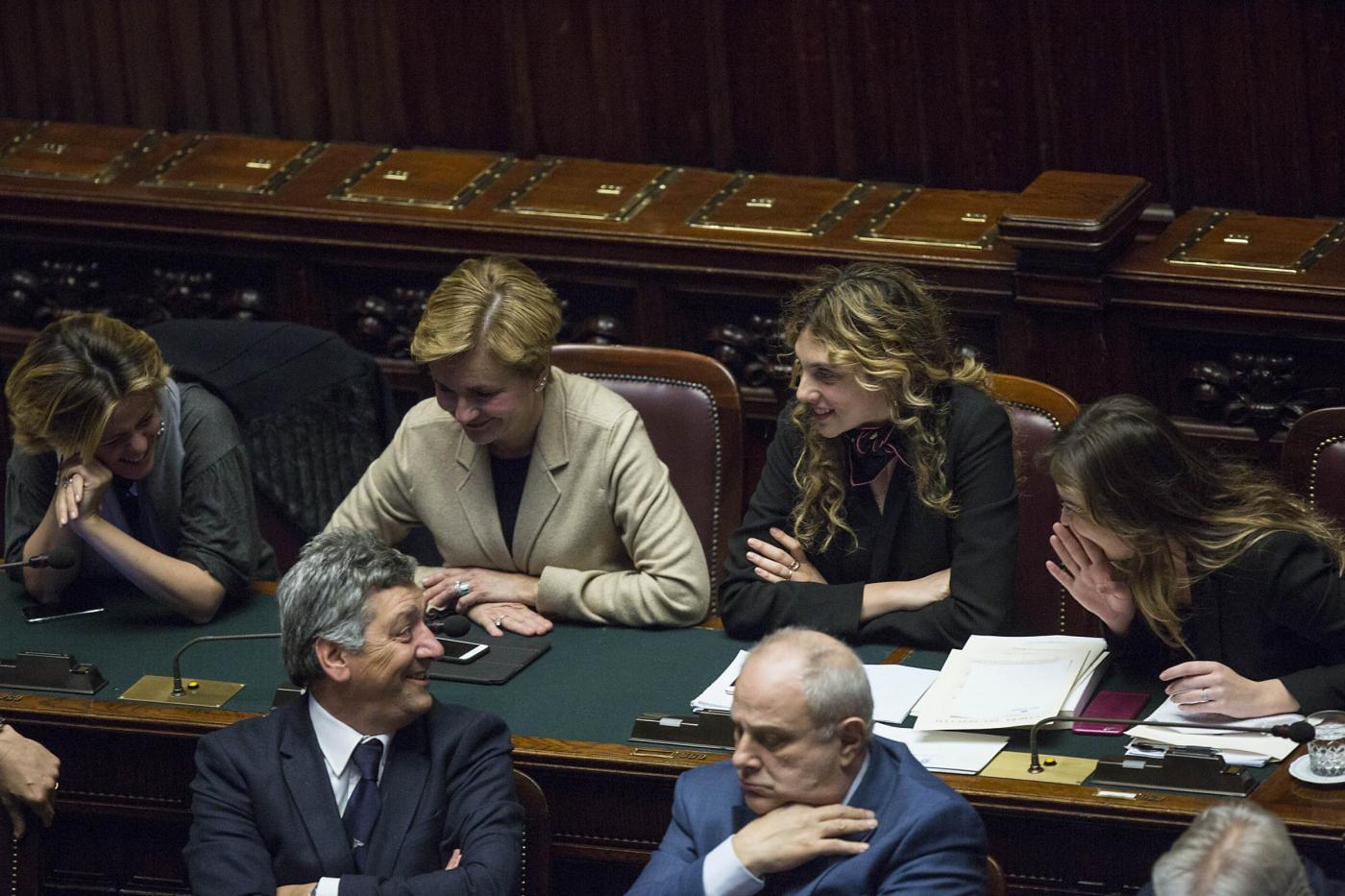 Camera dei Deputati Voto di sfiducia al ministro Maria Elena Boschi