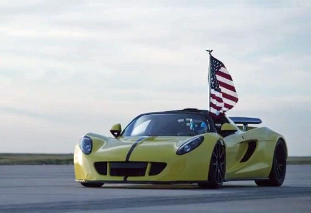 Record velocità auto cabrio: Hennessey Venom vs Bugatti