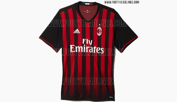 Nuova maglietta Milan 2016/2017