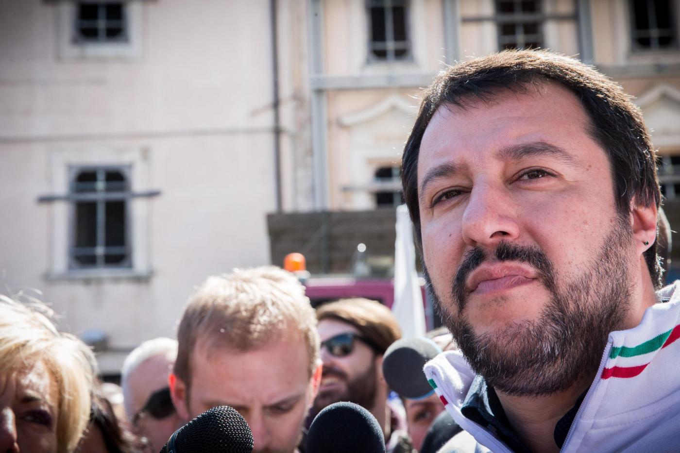 Matteo Salvini a L'Aquila