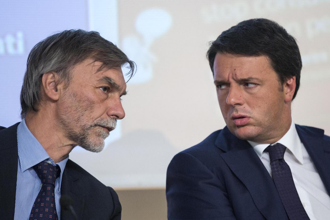 Matteo Renzi e Graziano Delrio