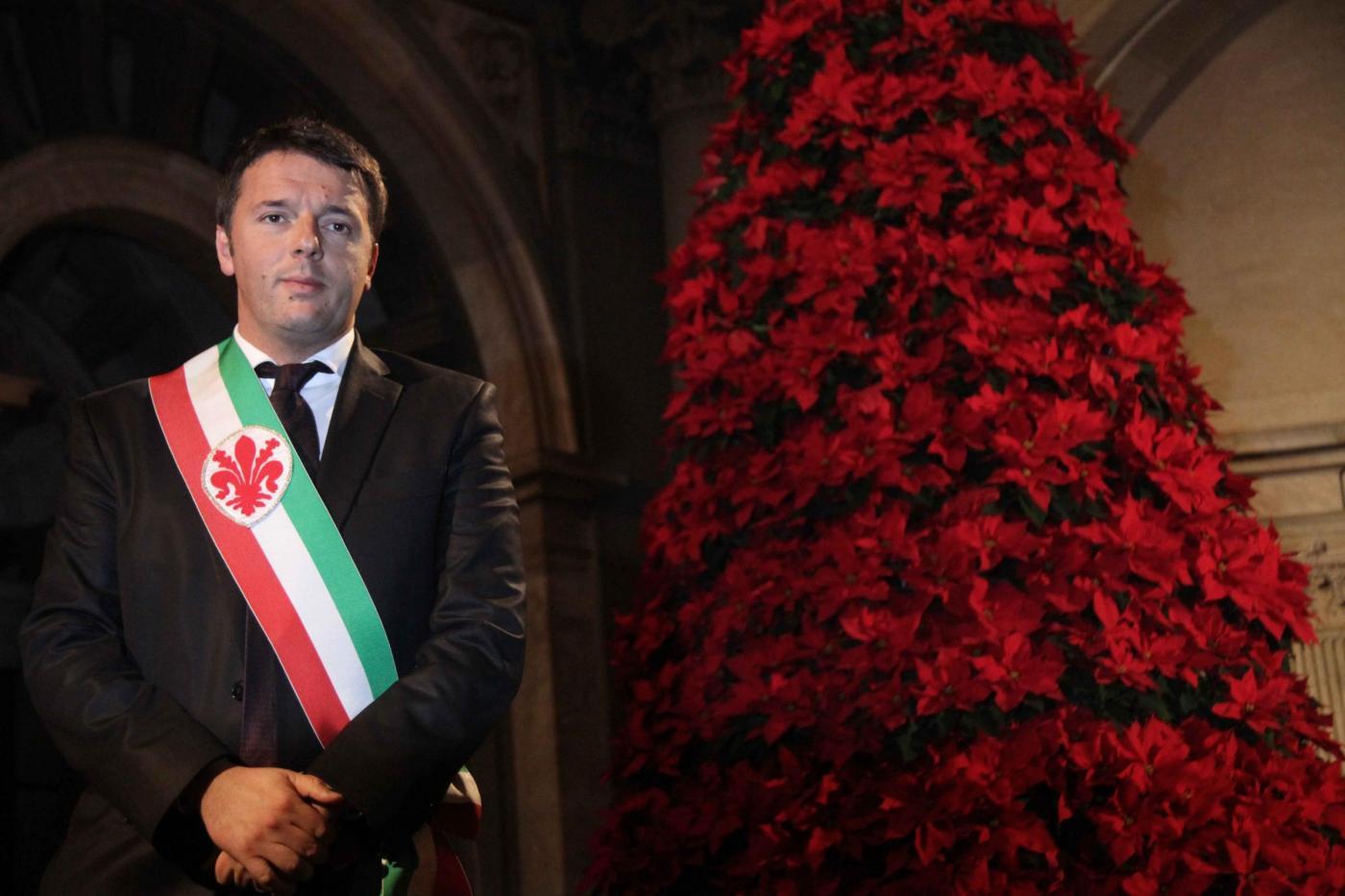 Palazzo Vecchio, Renzi fa gli auguri di Natale alla città di Firenze