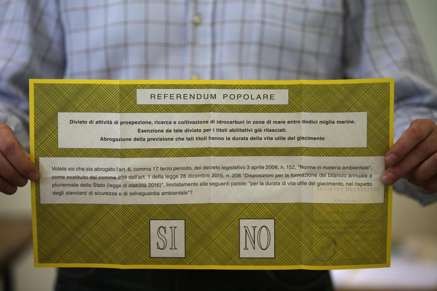Roma, voto sul referendum per le trivelle
