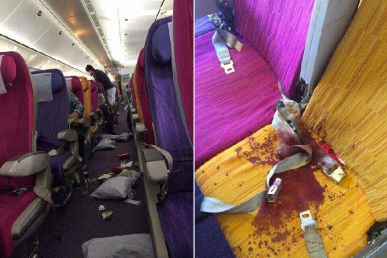 sangue feriti aereo turbolenza singapore