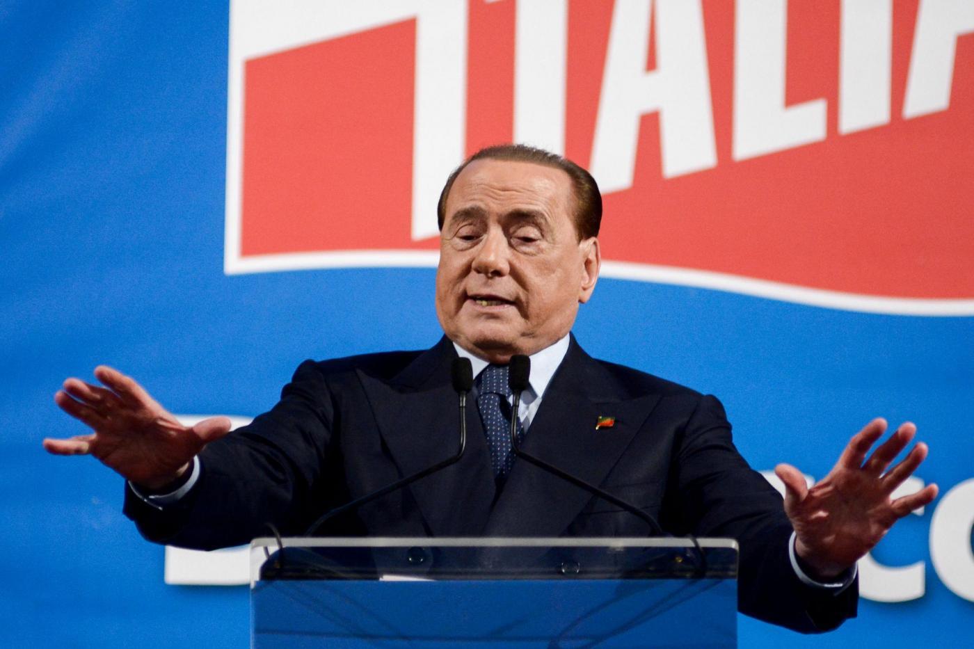 Silvio Berlusconi alla kermesse di Forza Italia a Palermo