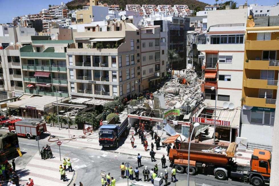 Tenerife, crollo di una palazzina: due italiani morti e uno ferito