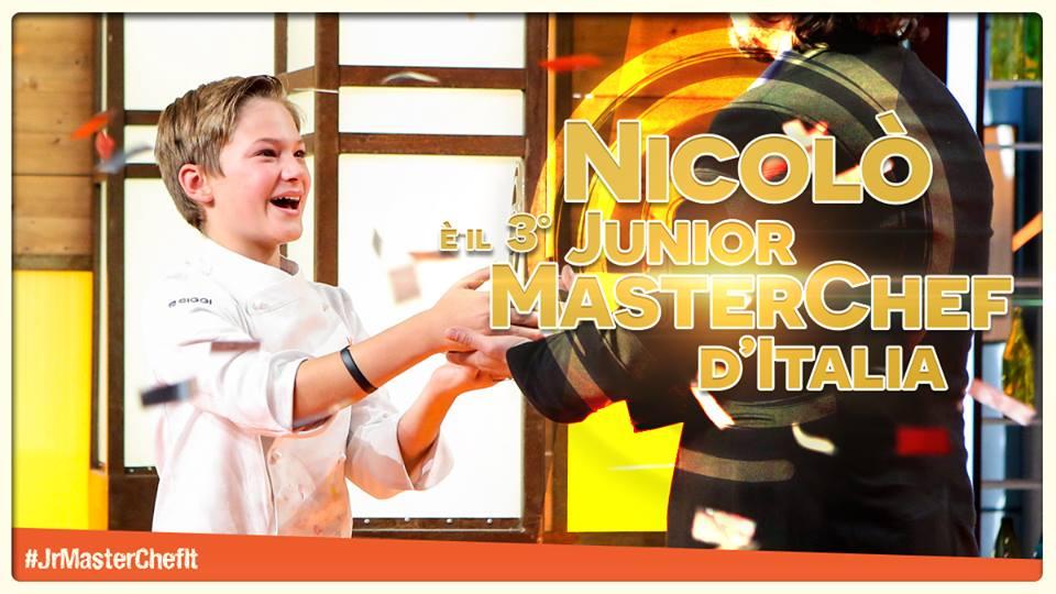 Nicolò vincitore Junior MasterChef Italia, terza edizione