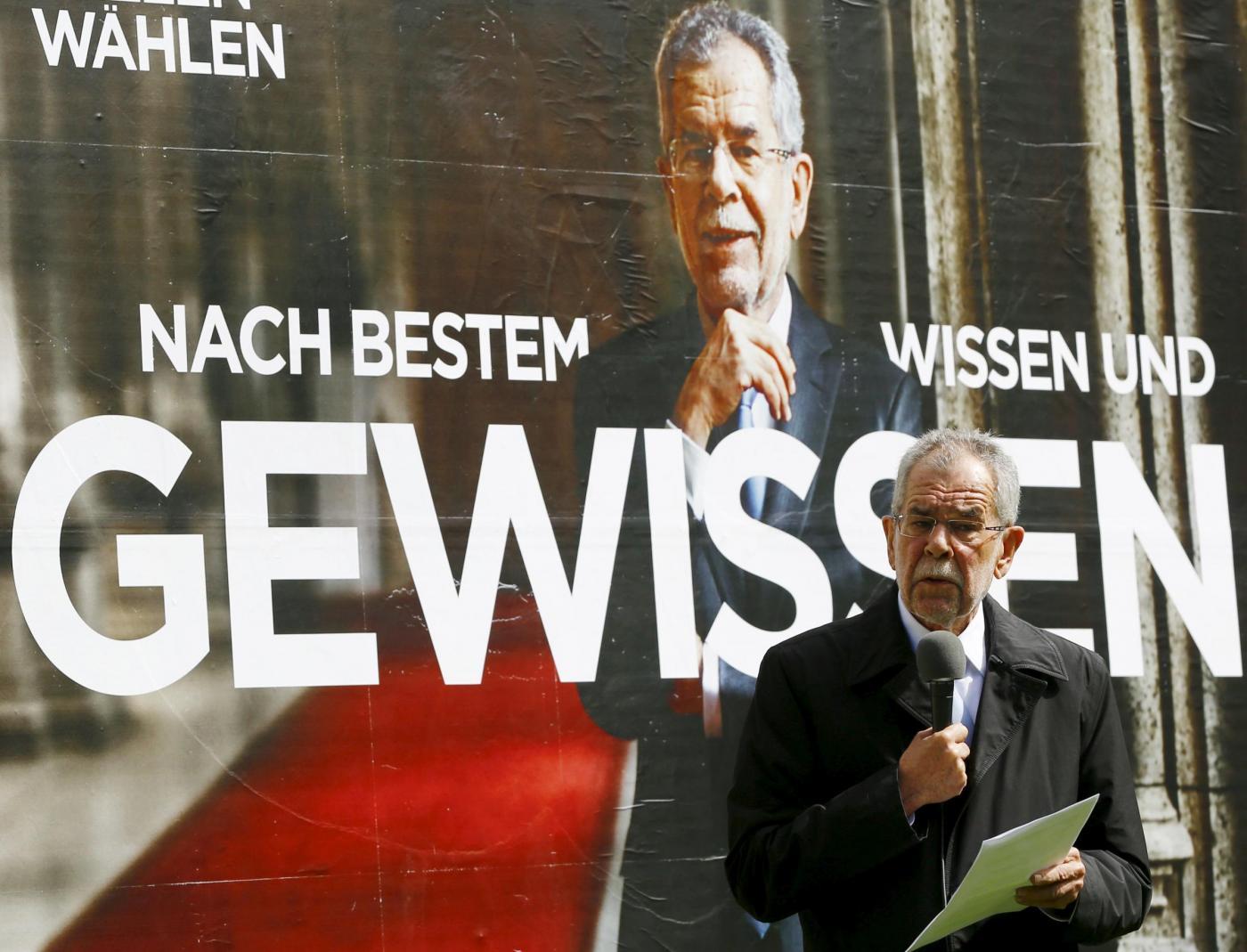 Elezioni Austria, candidato Van der Bellen