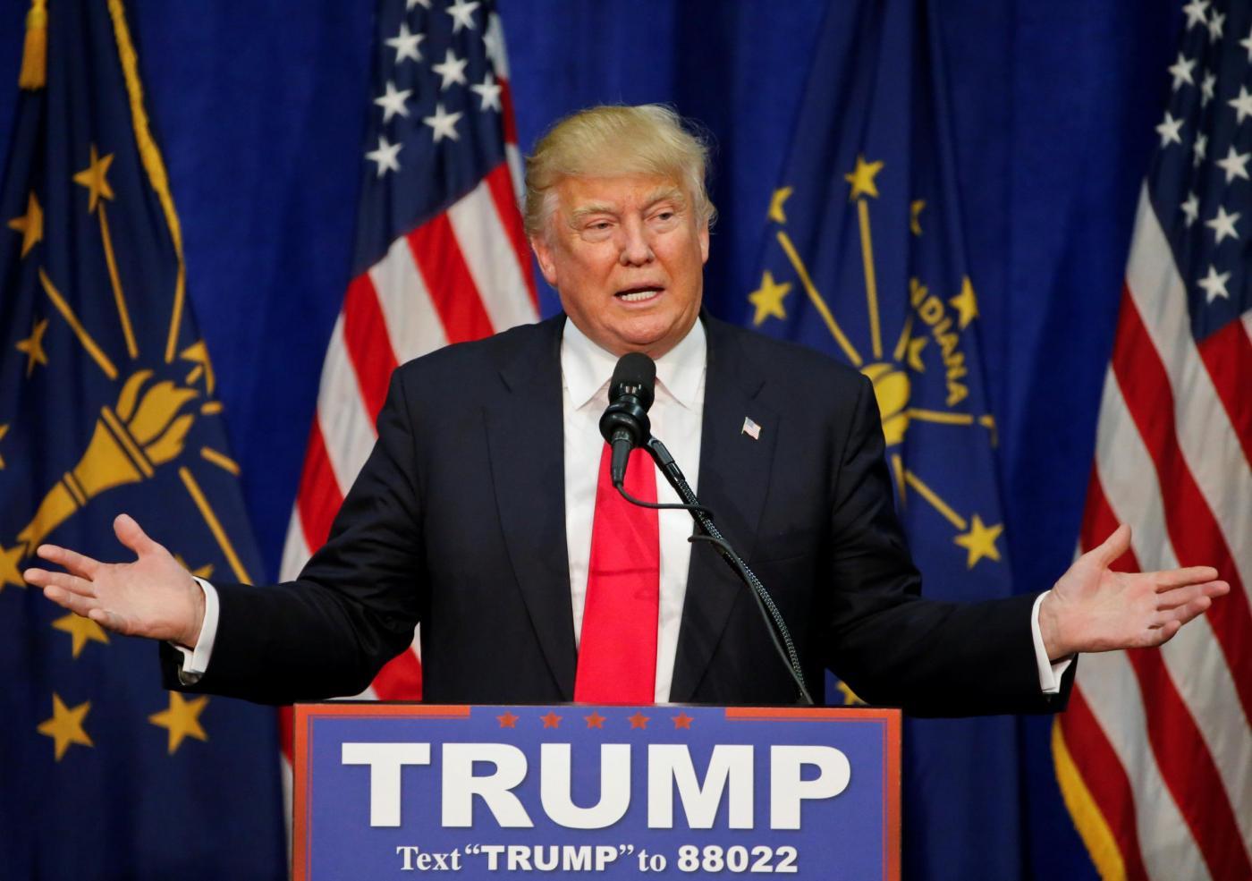 Elezioni presidenziali Usa, comizio di Donald Trump in Indiana