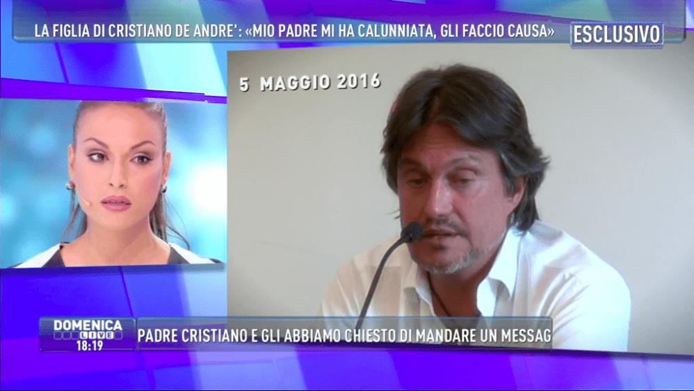 Francesca De André a Domenica Live contro il padre Cristiano: 'Ho fatto un esposto, dice una menzogna dietro l'altra'