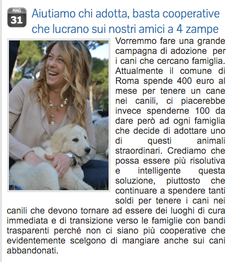 Giorgia Meloni sul suo blog
