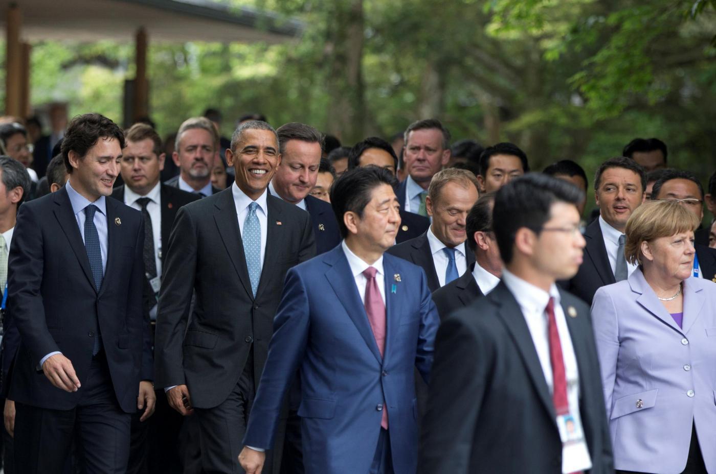 G7 Giappone Abe incontra i leader al tempio di Ise