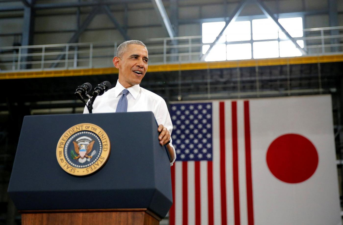 Giappone Barack Obama a Hiroshima