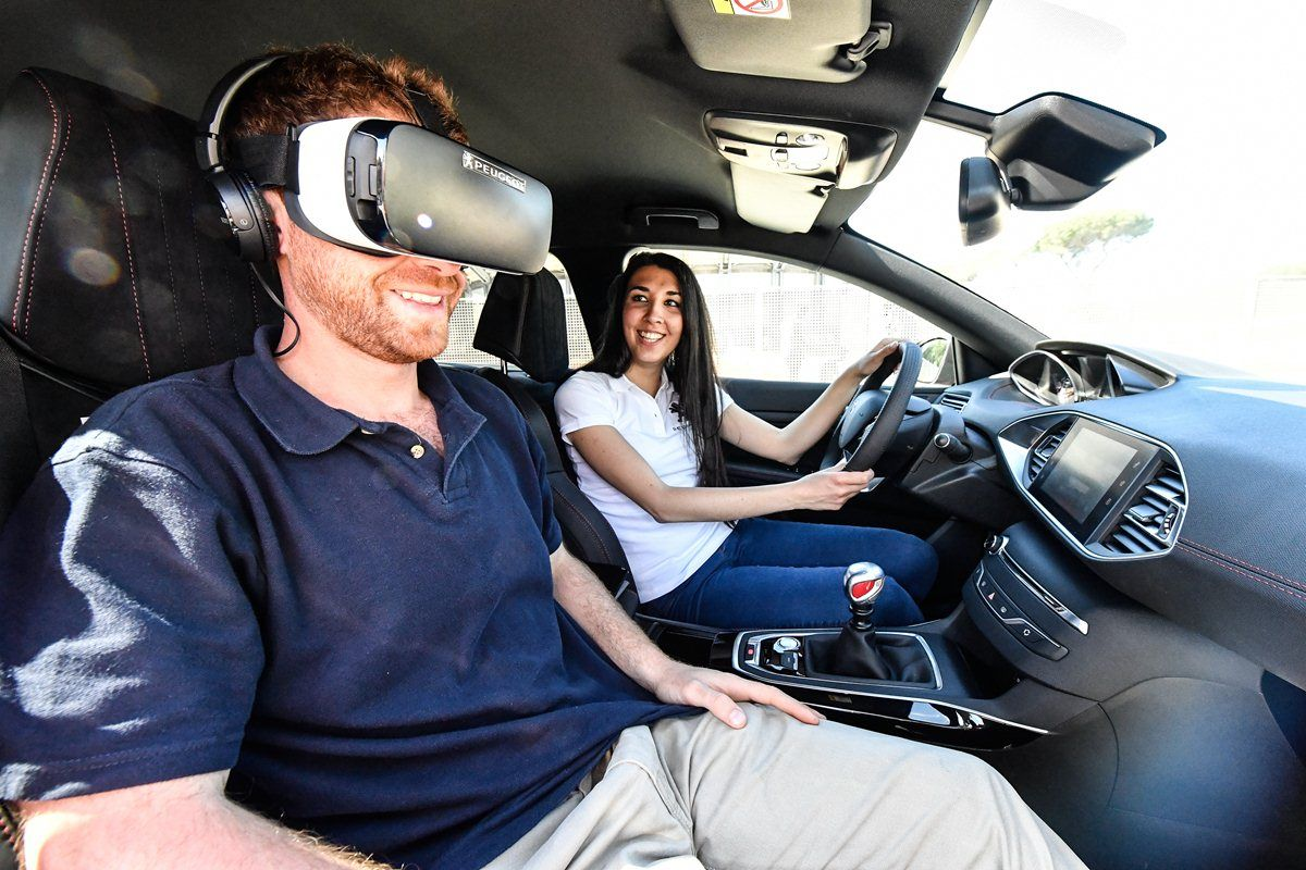 Peugeot, virtual reality con l'Oculus agli Internazionali BNL 2016