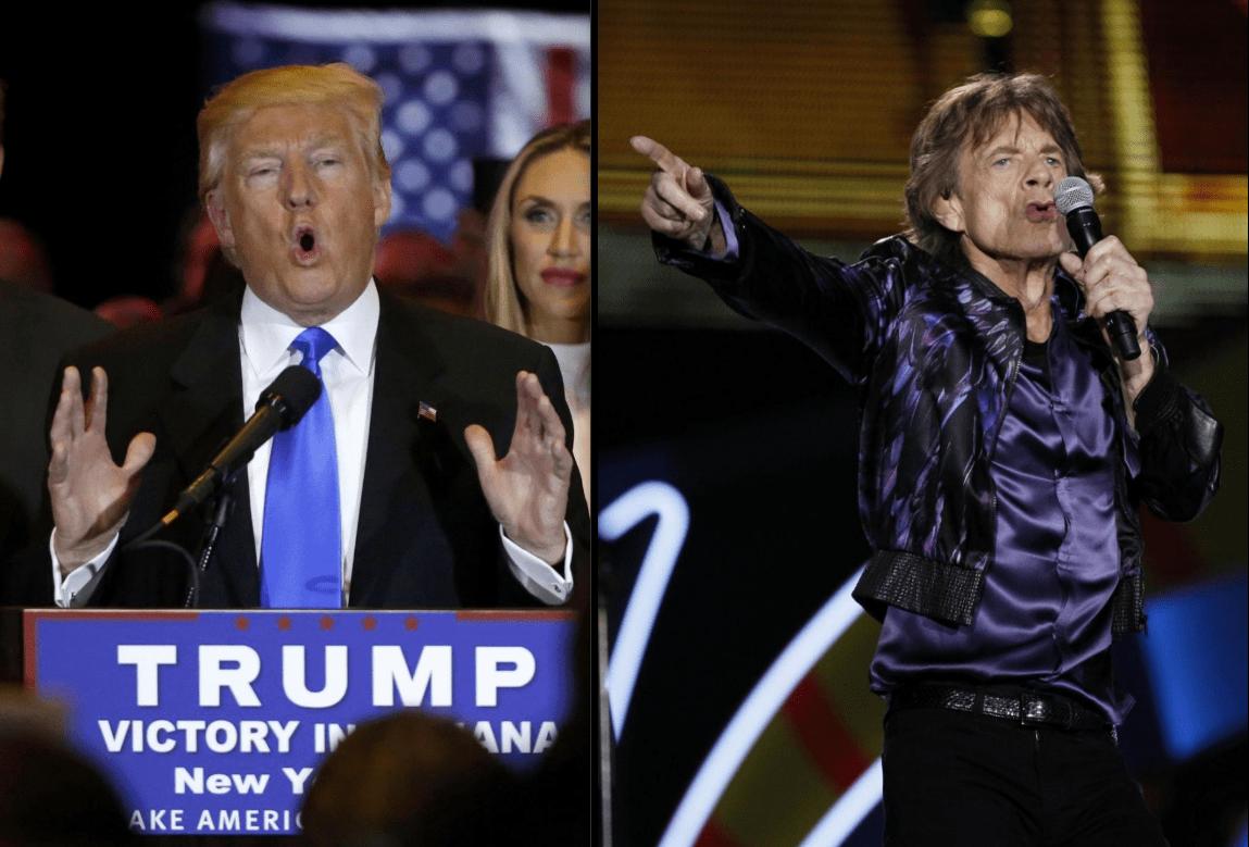 I Rolling Stones diffidano Donald Trump dall'uso della loro musica in campagna elettorale
